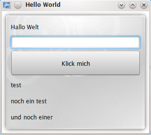 Die erweiterte Hello World Applikation